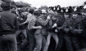 Miners and police clash at the Orgreave plant, Sheffield 1984