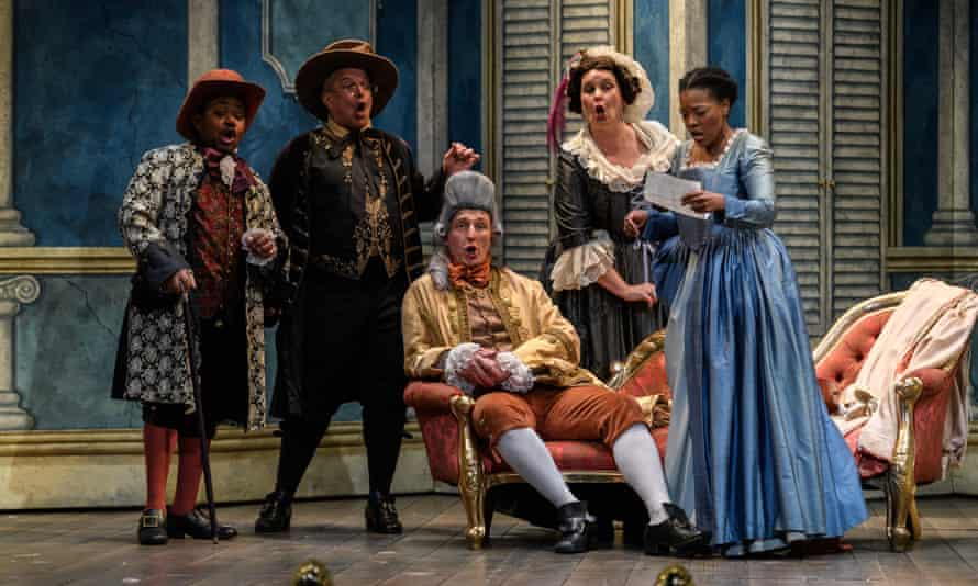 English Touring Opera presents The Marriage of Figaro, by Wolfgang Amadeus Mozart, at the Hackney Empire, directed by Blanche McIntryre, conducted by Christopher Stark..