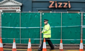 A Zizzi restaurant in Salisbury remained cordoned off at the weekend.