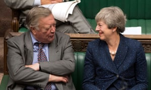 Ken Clarke and Theresa May in House of Commons