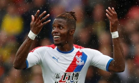 Wilfried Zaha said he was delighted to help his counterparts at Crystal Palace Ladies.