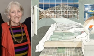 Bedhopping buildings … Madelon Vriesendorp and her painting Flagrant Délit, which became associated with her husband Rem Koolhaas.