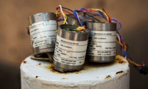 UK-made motor parts for cluster-bomb sensors in Sana'a.