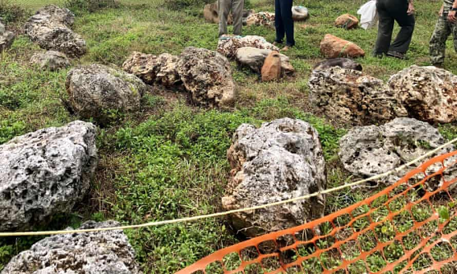 Artefacts removed from historic sites at Finegayan in Dededo, northern Guam