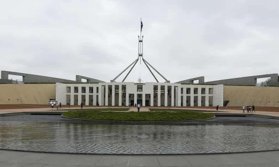 Outside Parliament House on January 06, 2020 in Canberra, Australia.