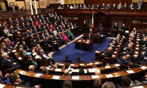 Irish MPs meeting in the Dáil Éireann last week to attempt to form a new government.