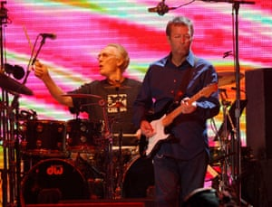 Cream in Concert at Madison Square Garden in New York City - October 24, 2005Ginger Baker and Eric Clapton of Cream during Cream in Concert at Madison Square Garden in New York City - October 24, 2005 at Madison Square Garden in New York City, New York, United States. (Photo by KMazur/WireImage)