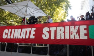 Labour party leader Jeremy Corbyn addresses the Global Climate Strike in London on 20 September.