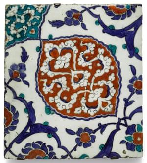 Iznik tile from Turkey, made in 1575
