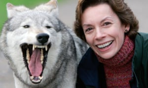 Paver with a wolf in 2004.