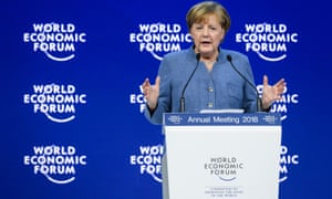 Angela Merkel stressed the need for multilateral, rather than unilateral, anwers to global problems in her speech to the World Economic Forum.