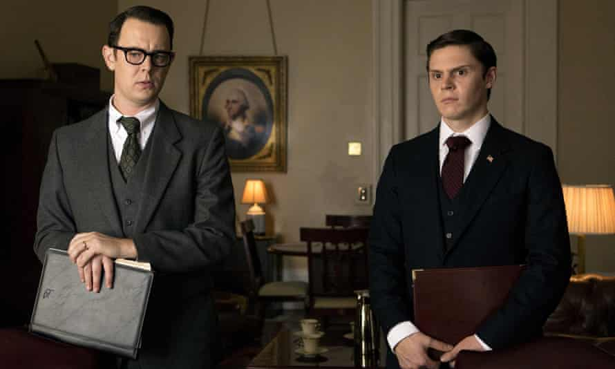 Uptight staffers … Colin Hanks as Bud Krogh and Evan Peters as Dwight Chapin.