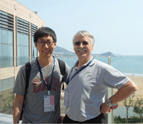 Drs. Lijing Cheng and Kevin Trenberth, September 2016 in Qing Dao China at the CLIVAR Conference.