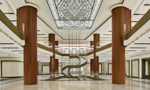 empty interior of Four Seasons hotel