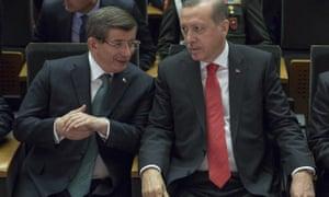 Davutoğlu and Erdoğan