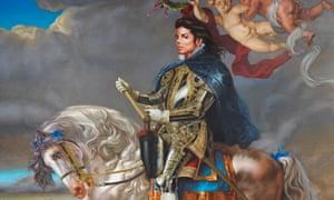 Kehinde Wiley's Equestrian Portrait of King Philip II (Michael Jackson), 2010.