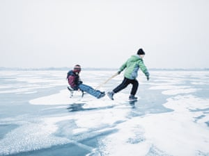 The Children category was won by K K from Changsha, China with an image of children were playing with a home-made sled on the frozen Songhua River.
