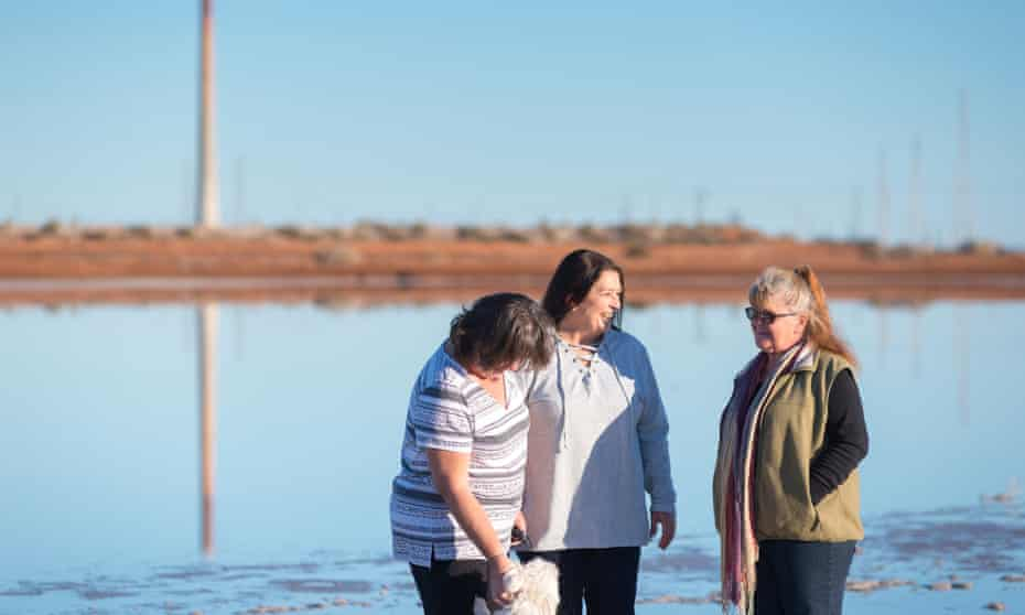 L-R, Lisa Causby, Linda Hosking, Leonie Insch. Part of the group of locals fighting against fly-ash.