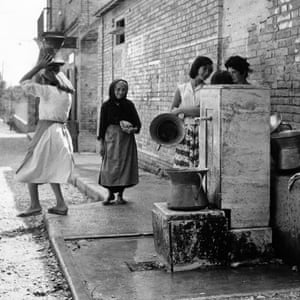 Village life … Women in the Abruzzi, where Ginzburg spent the war.