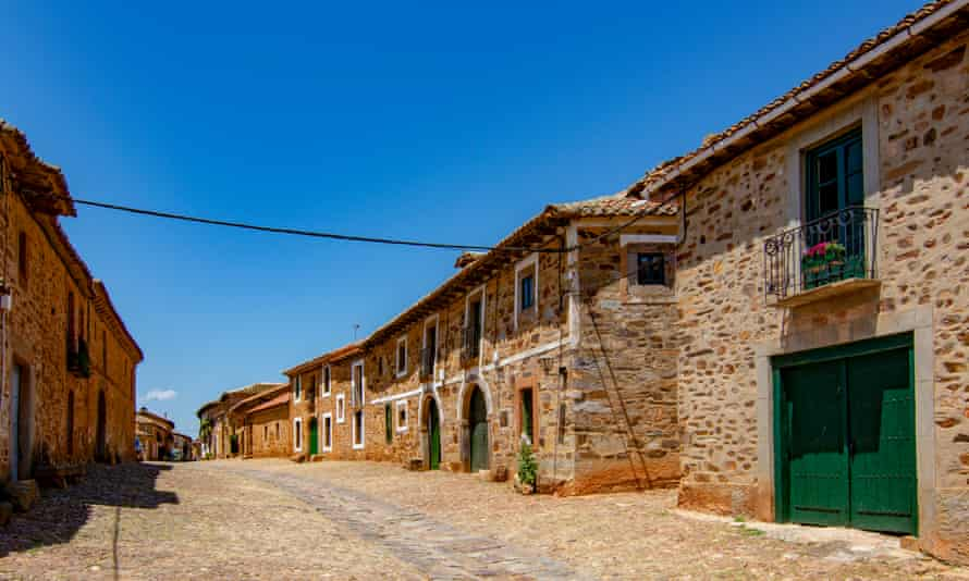 medieval village of castrillo de los PolvazaresCastrillo de los Polvazares, Leon, Spain, June 2017: Streets and squares of the medieval village of castrillo de los Polvazares, in North west of Spain. It is one of the few places of Maragateria