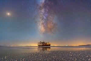 Milky Way on lake Urmia