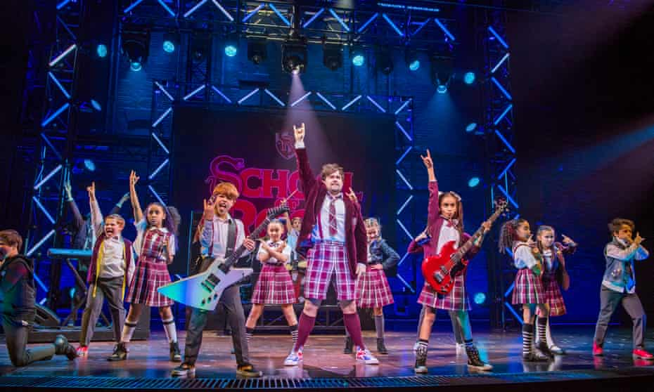School of Rock the Musical at New London theatre
