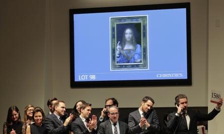 Leonardo da Vinci's Salvator Mundi being auctioned at Christie's