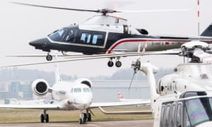 Private aircraft of visitors to Davos.
