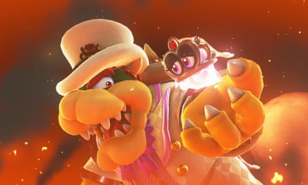 Super Mario Odyssey screenshot with Bowser