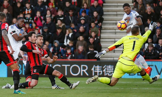 Image result for pic of anichebe scoring against bournemouth