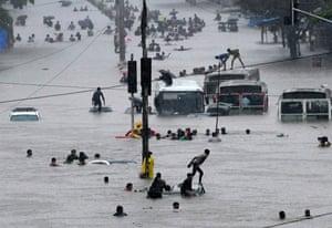monsoons in Mumbai, India