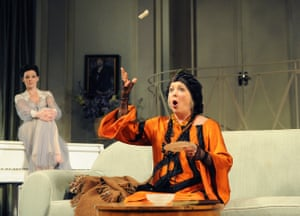 Ruthie Henshall as Elvira and Alison Steadman as Madame Arcati in Thea Sharrock's production at the Apollo theatre, London, in 2011.