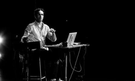 Jad Abumrad from Radiolab performing a live show