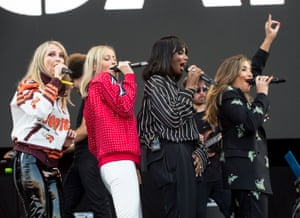 All Saints perform at the Isle of Wight festival in England