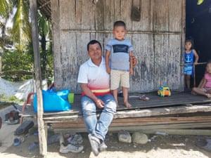 Josué González and his son.