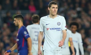 Chelsea's Andreas Christensen looks dejected after Barcelona's third goal at Camp Nou in their recent Champions League clash.