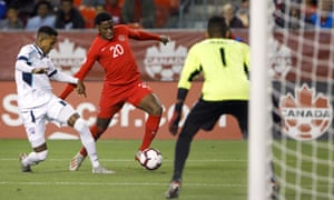 Jonathan David in action for Canada against Cuba in September 2019.