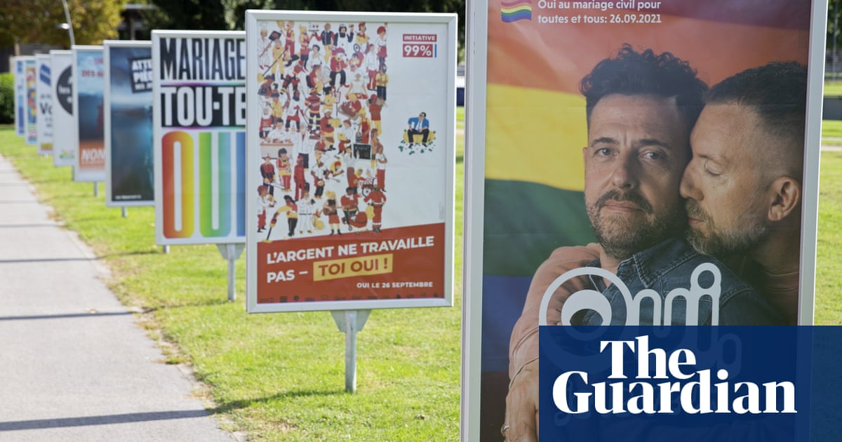 Swiss vote overwhelmingly for same-sex marriage, according to poll