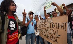 Anti-Australia  protests in Dili in 2013