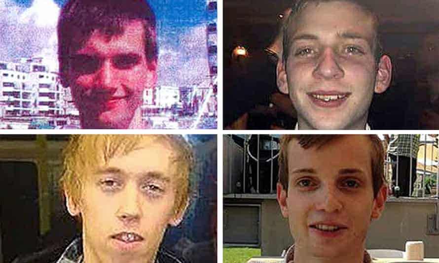 Port's victims, clockwise from top left, Daniel Whitworth, Jack Taylor, Gabriel Kovari and Anthony Walgate