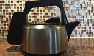 Kicki Gustafsson, from Östersund in Sweden, continues to boil water in her British Swan Kettle bought in 1983.