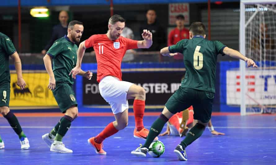 England in action against Italy in a Fifa Futsal World Cup qualifying match last October.