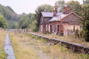 Abandoned station and track
