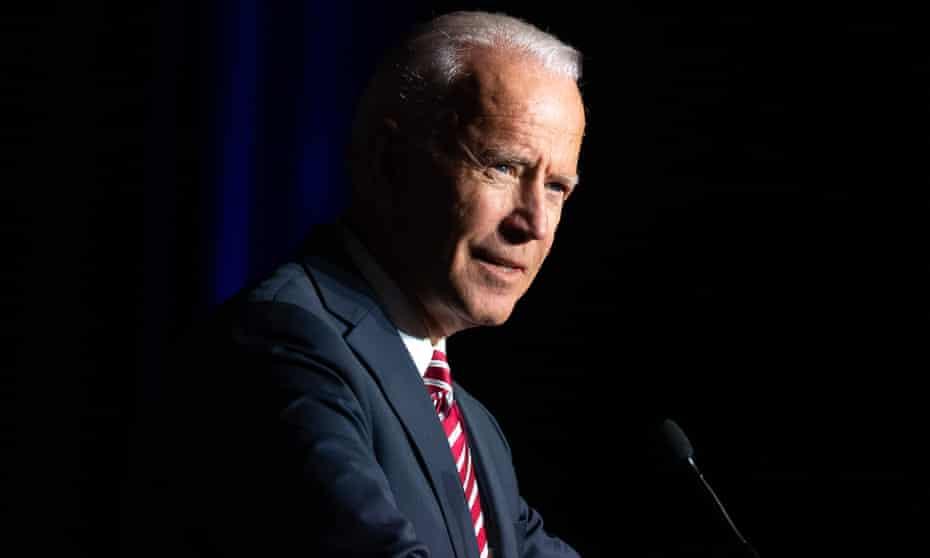 Joe Biden speaks in Dover, Delaware in March.
