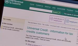 The HMRC universal credit webpage
