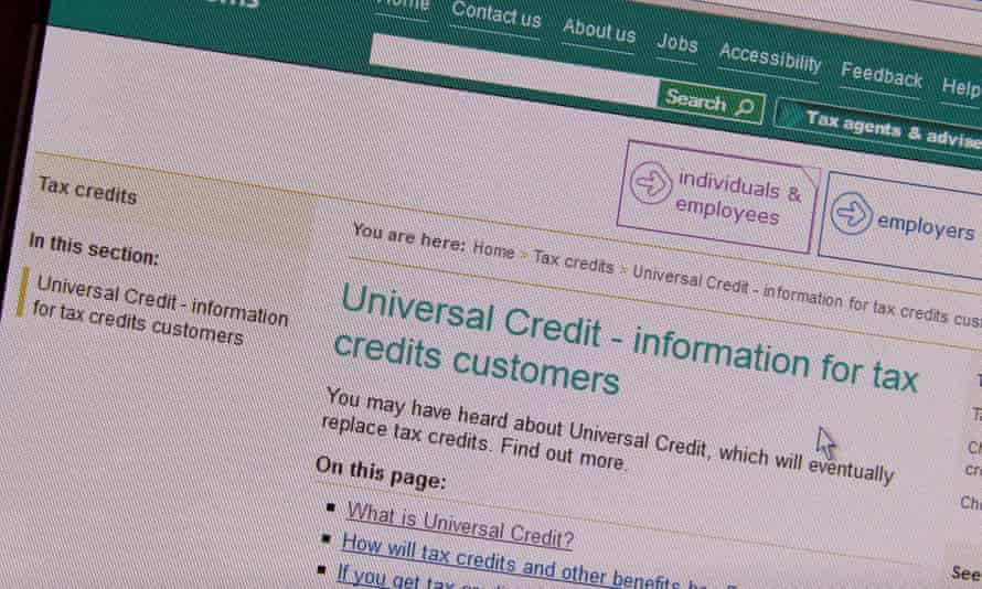 Online universal credit application