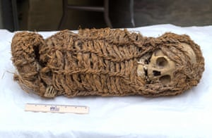 Lima, PeruA 2,000 year-old Aymara baby mummy that, after decades of negotiations, will be returned to Peru from the Museum of Science and History of Corpus Christi of Houston, Texas, USA.  The Peruvian foreign Ministry is carrying out a campaign to recover cultural artefacts spread throughout the world.