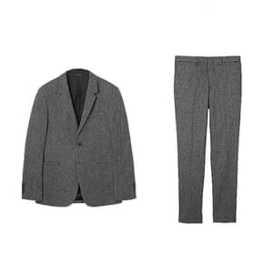 Relaxed grey jacket and trousers from Cos stores