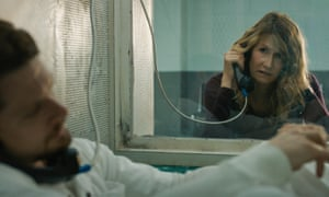 Jack O'Connell and Laura Dern in Trial by Fire