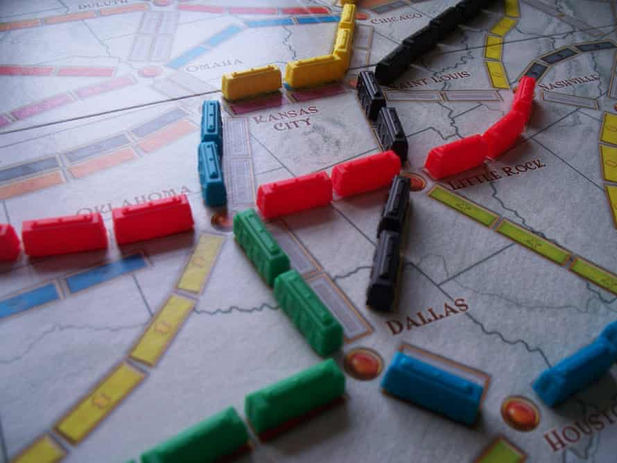 The Ticket to Ride board